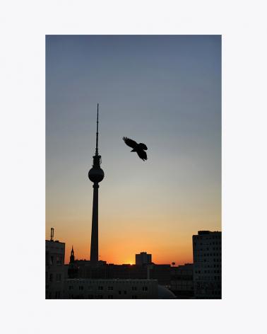 Sunset at Alexanderplatz Berlin Fine Art Print