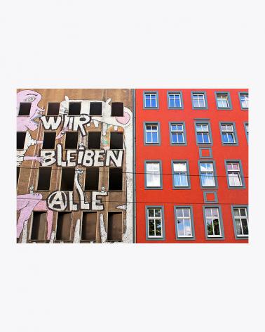 WIR BLEIBEN ALLE Graffiti Berlin Foto Kunstdruck