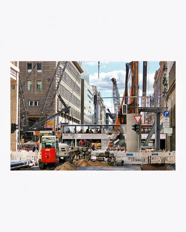 Die Hauptstadt der Baustellen Foto Kunstdruck Berlin