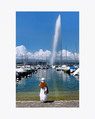 Jet d'eau Genf Foto Kunstdruck