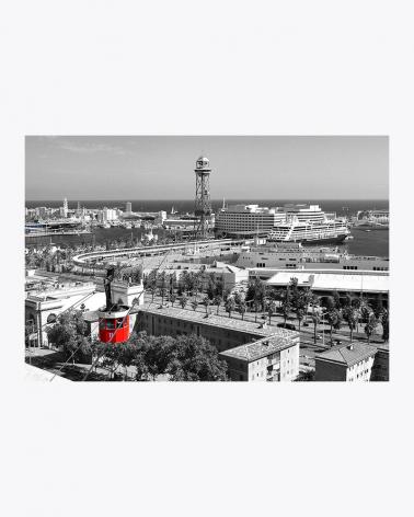 Port Vell Aerial Tramway Barcelona Fine Art Print