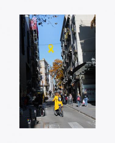Yellow Ribbon Barcelona Fine Art Print
