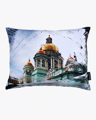 Cathedral of Our Childhood Moscow Designer Cushion Cover